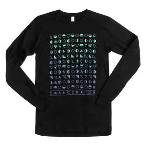 Multicolor Hieroglyphics Long Sleeve T-Shirt