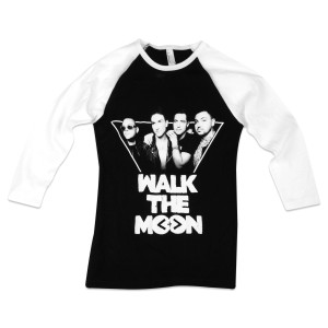 WALK THE MOON Band Photo Women's Raglan - Black