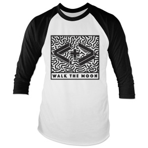 WALK THE MOON 3D Logo Baseball Tee