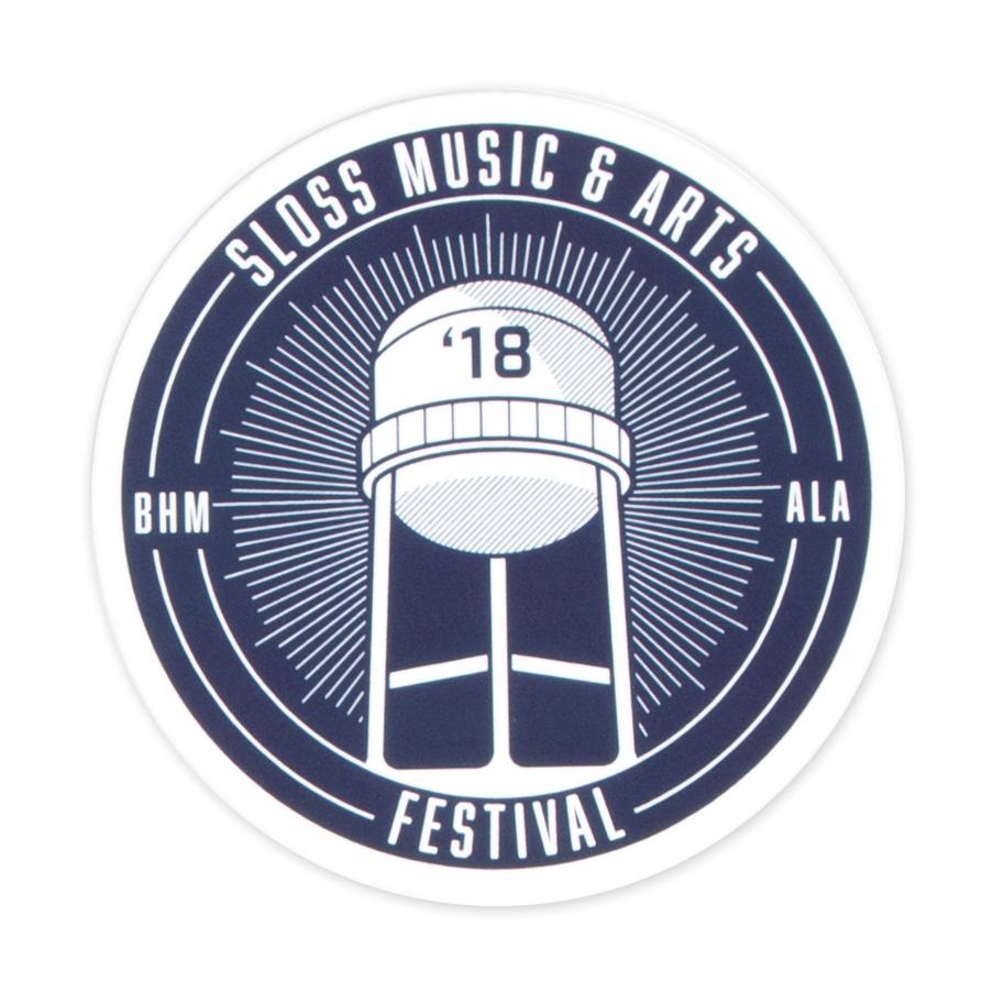 Sloss Music & Arts Festival 2018 Navy Sticker