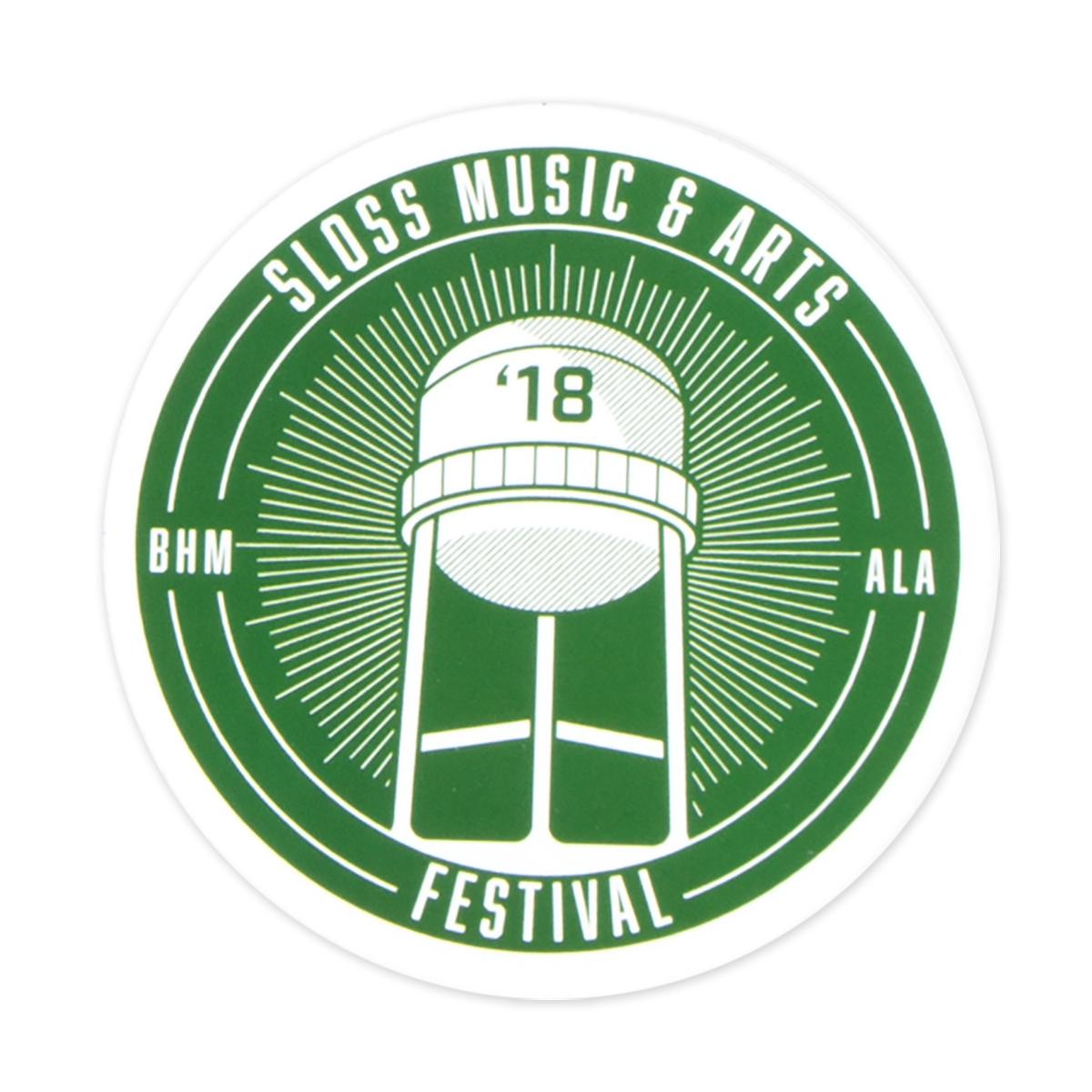 Sloss Music & Arts Festival 2018 Green Sticker