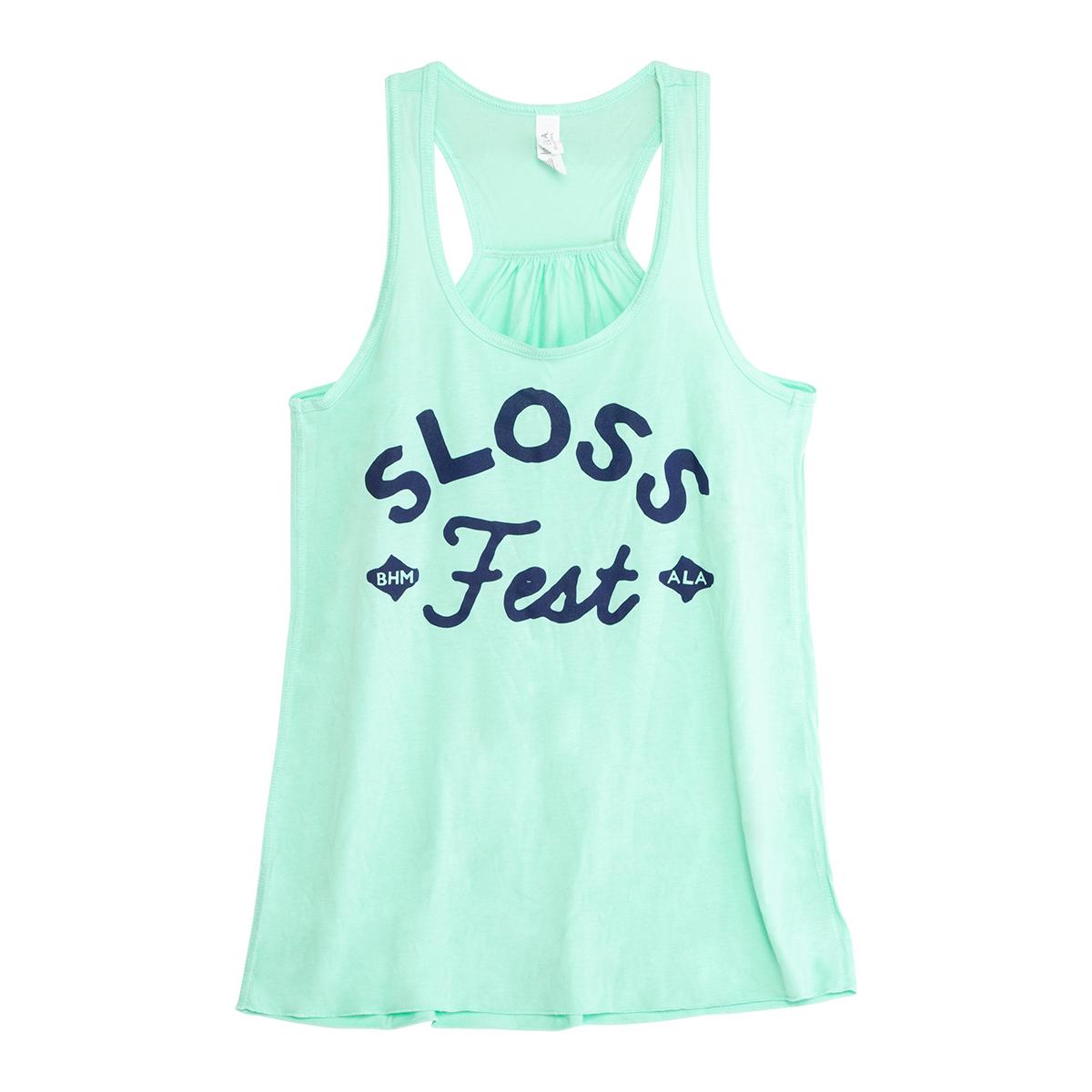 Sloss Music & Arts Festival 2017 Script Logo Ladies Tank