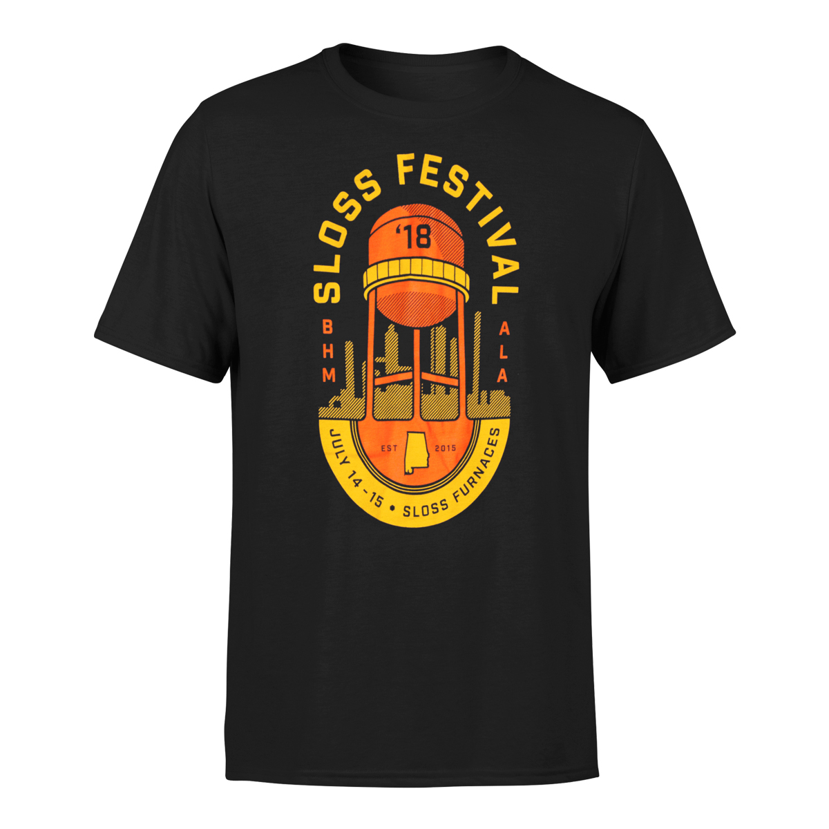 Sloss Music & Arts Festival 2018 Water Tower Emblem Event Tee