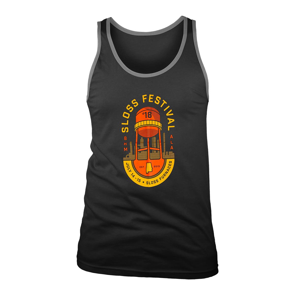 Sloss Music & Arts Festival 2018 Water Tower Emblem Unisex Tank