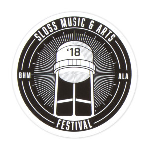Sloss Music & Arts Festival 2018 Black Sticker
