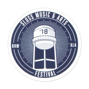 Sloss Music & Arts Festival 2018 Navy Sticker