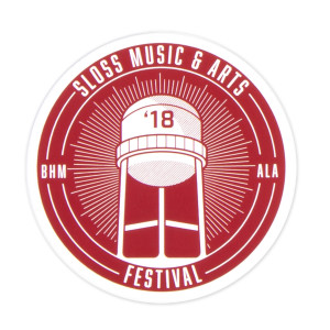Sloss Music & Arts Festival 2018 Maroon Sticker