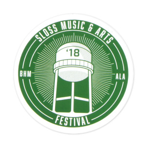 Sloss Music & Arts Festival 2018 Green Sticker