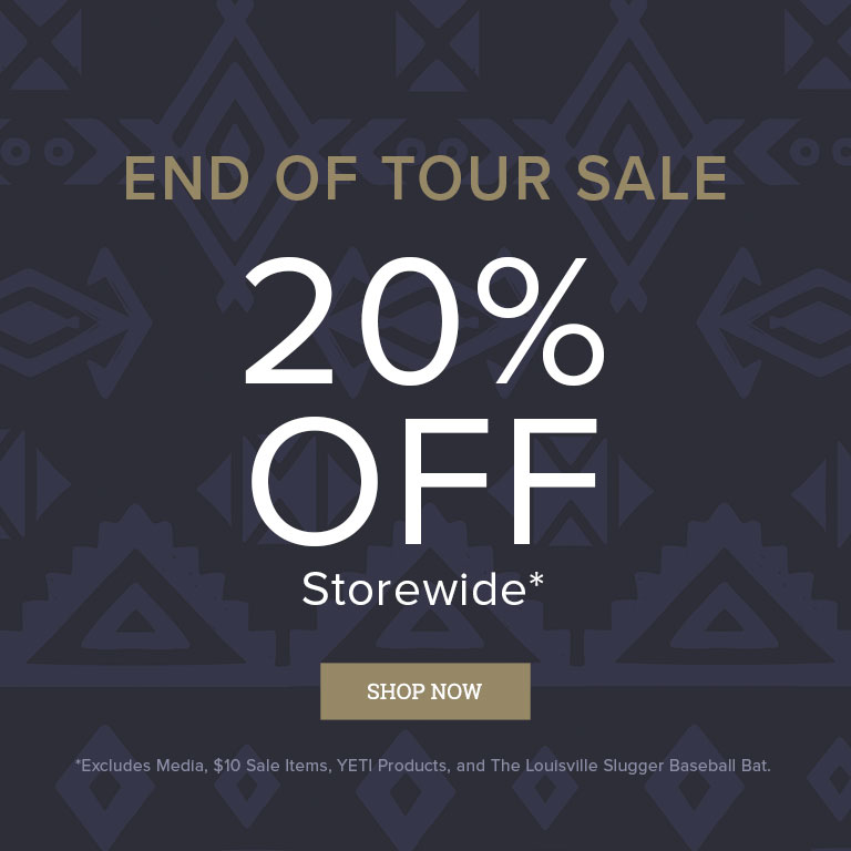 End of Tour Sale: 20% Off Storewide