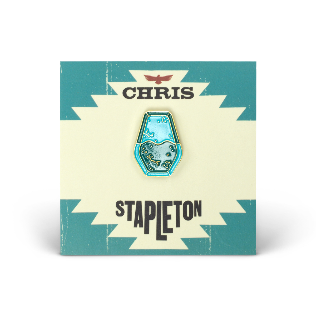 Chris Stapleton Turquoise Soft Enamel Pin