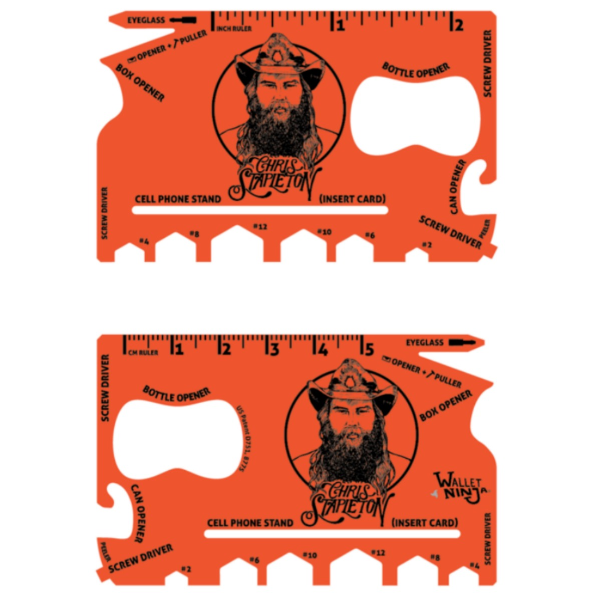 Chris Stapleton Hunter Orange Wallet Ninja