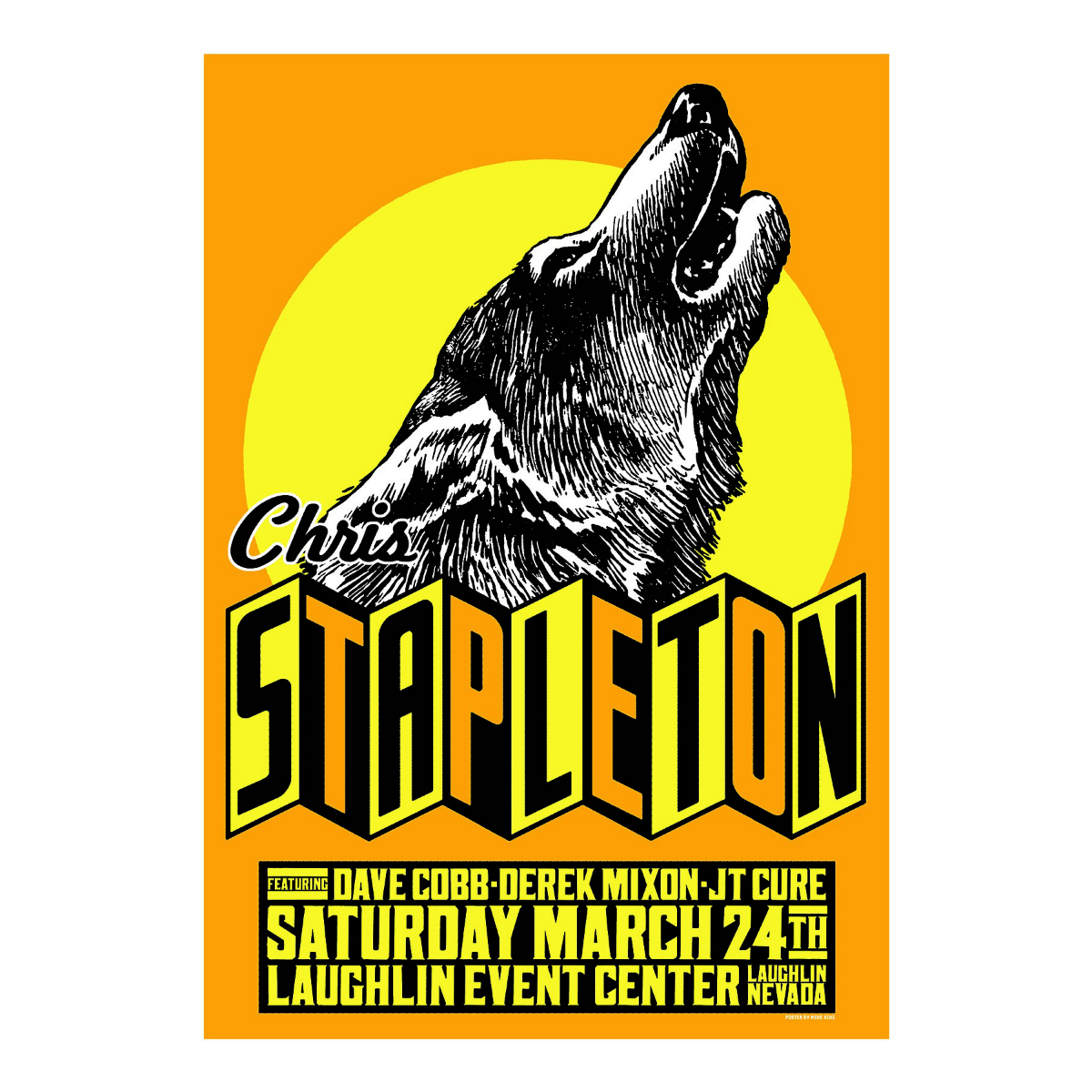 Chris Stapleton Show Poster – Laughlin, NV 3/24/18