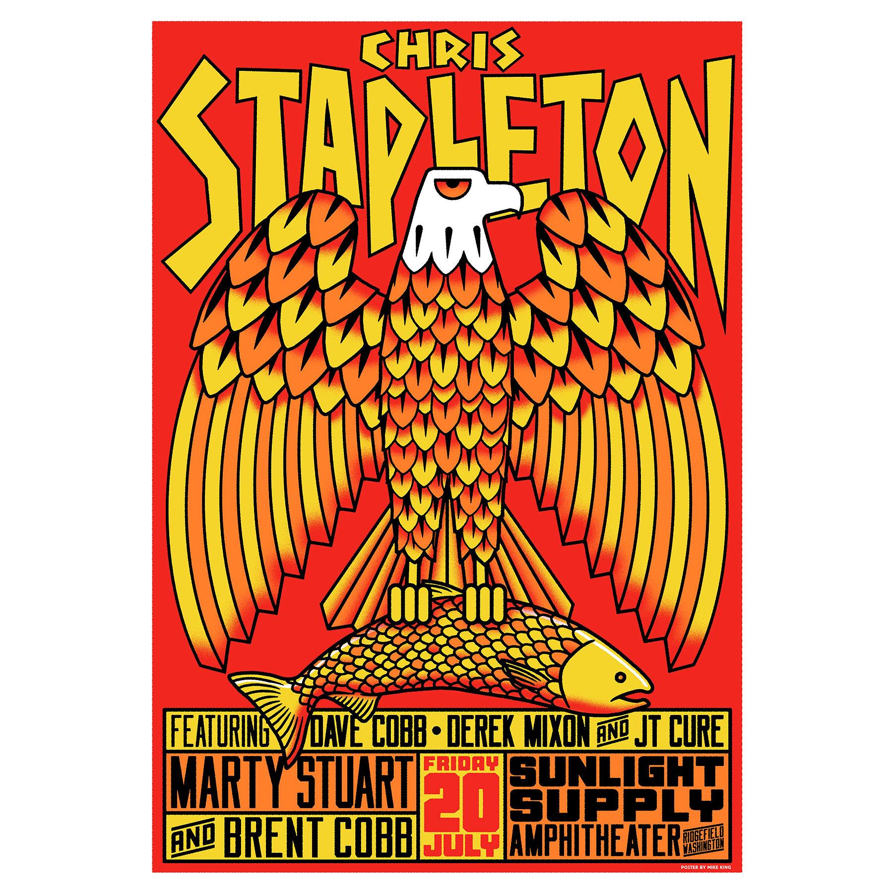 Chris Stapleton Show Poster – Ridgefield, WA 7/20/18