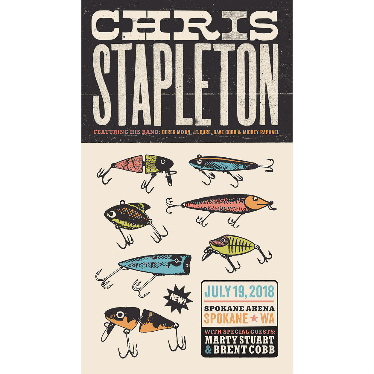 Chris Stapleton Show Poster – Spokane, WA 07/19/18
