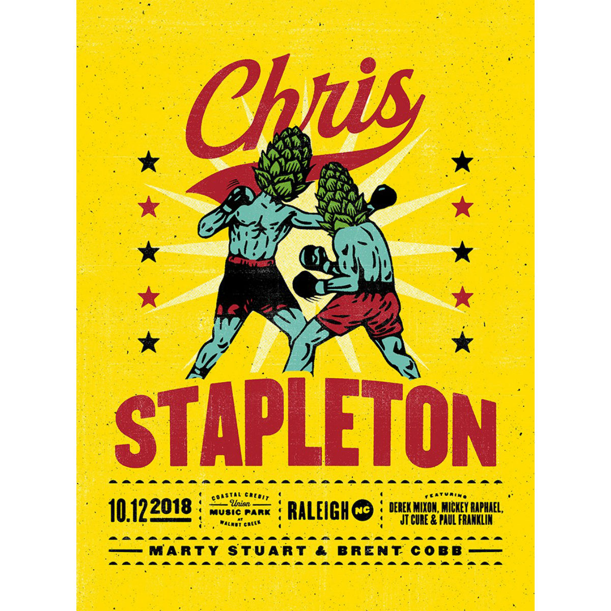 Chris Stapleton Show Poster – Raleigh, NC 10/12/18