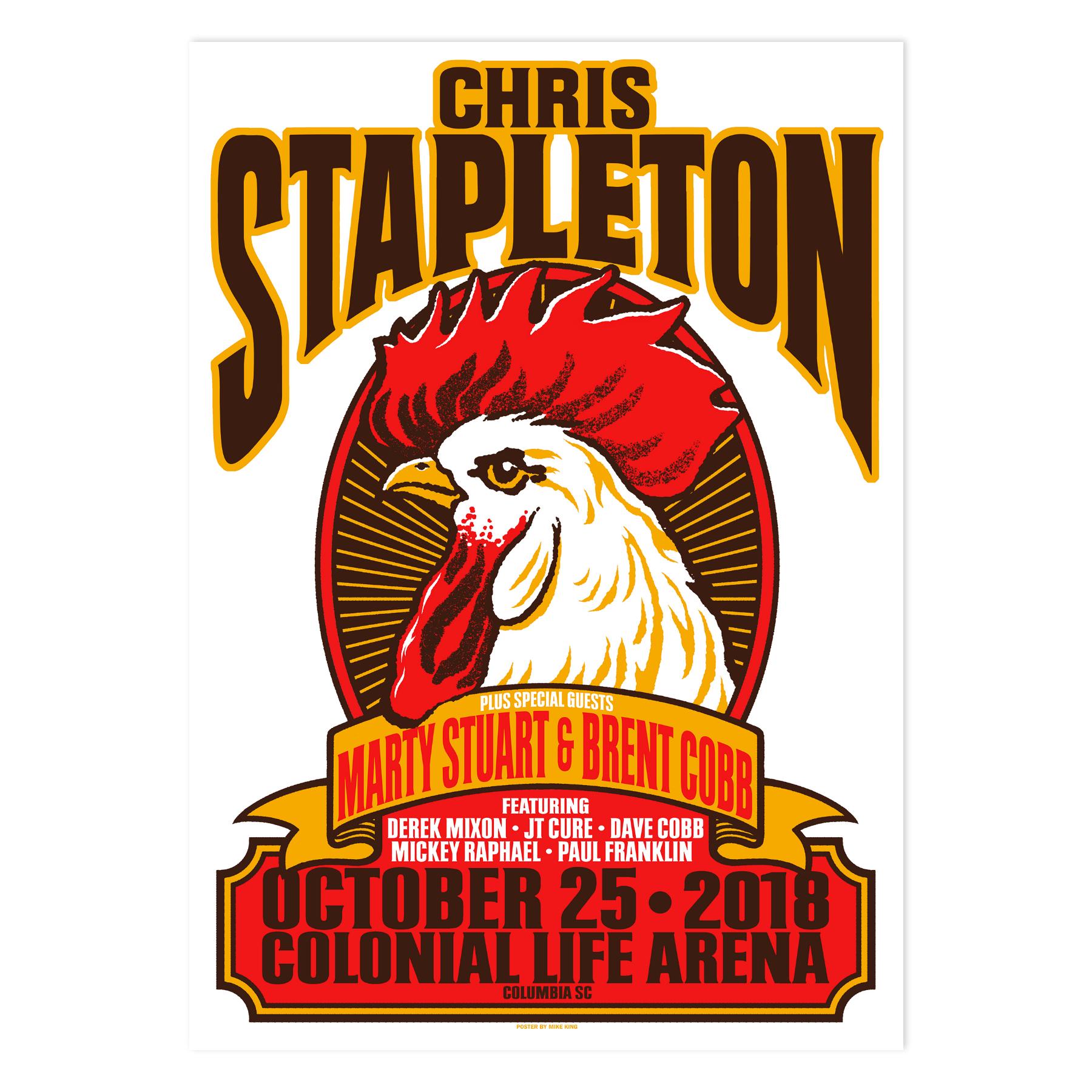 Chris Stapleton Show Poster – Columbia, SC 10/25/2018