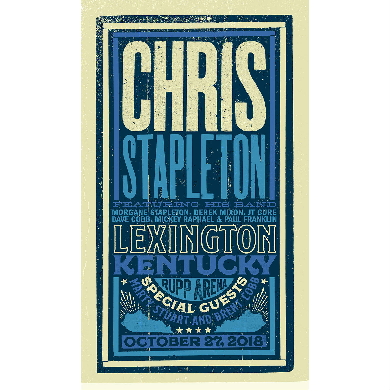 Chris Stapleton Show Poster – Lexington, KY 10/27/18