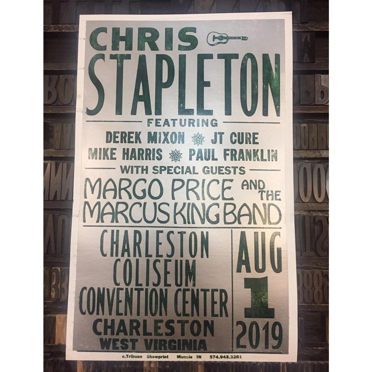 Chris Stapleton Show Poster – Charleston, WV 8/1/19