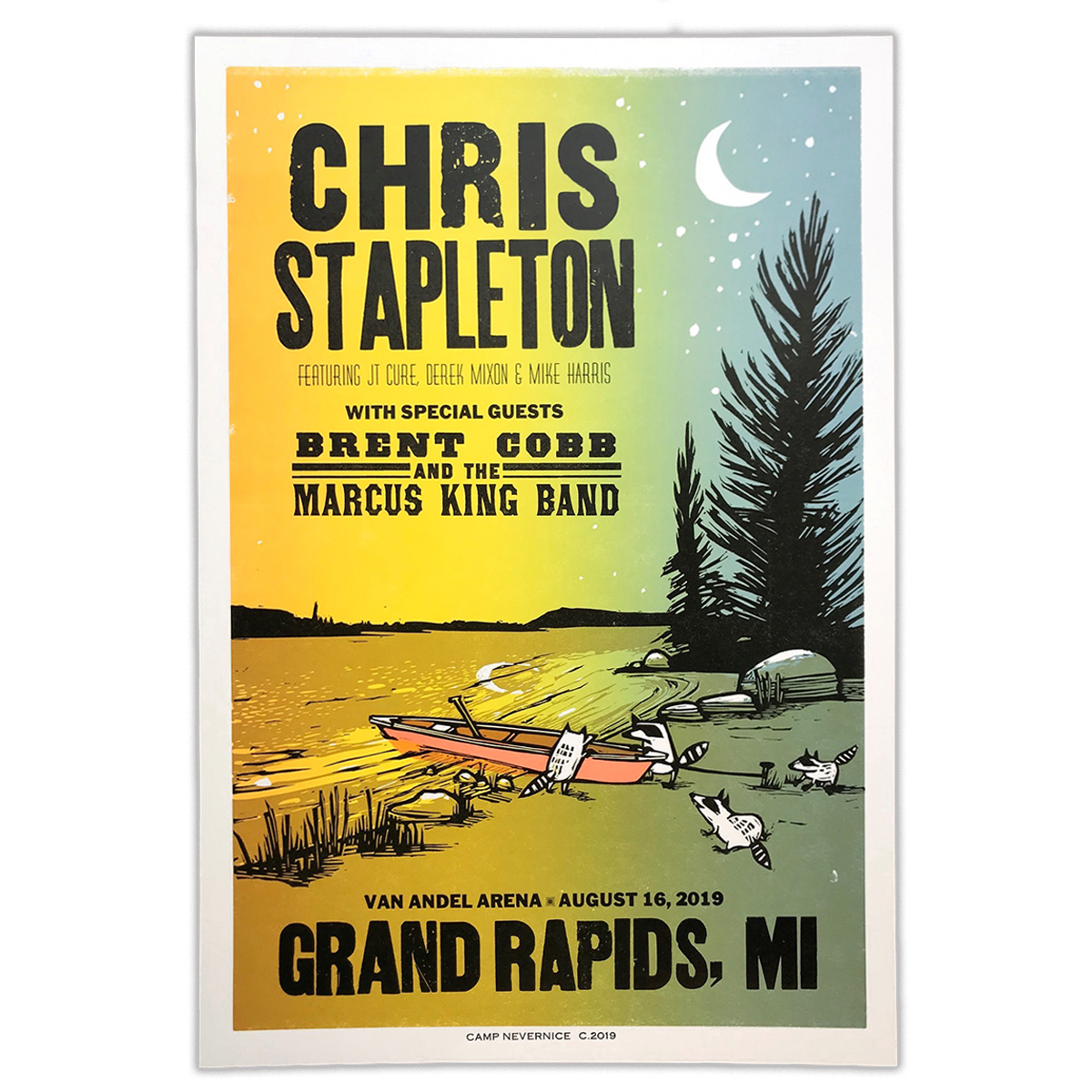 Chris Stapleton Show Poster – Grand Rapids, MI 8/16/19