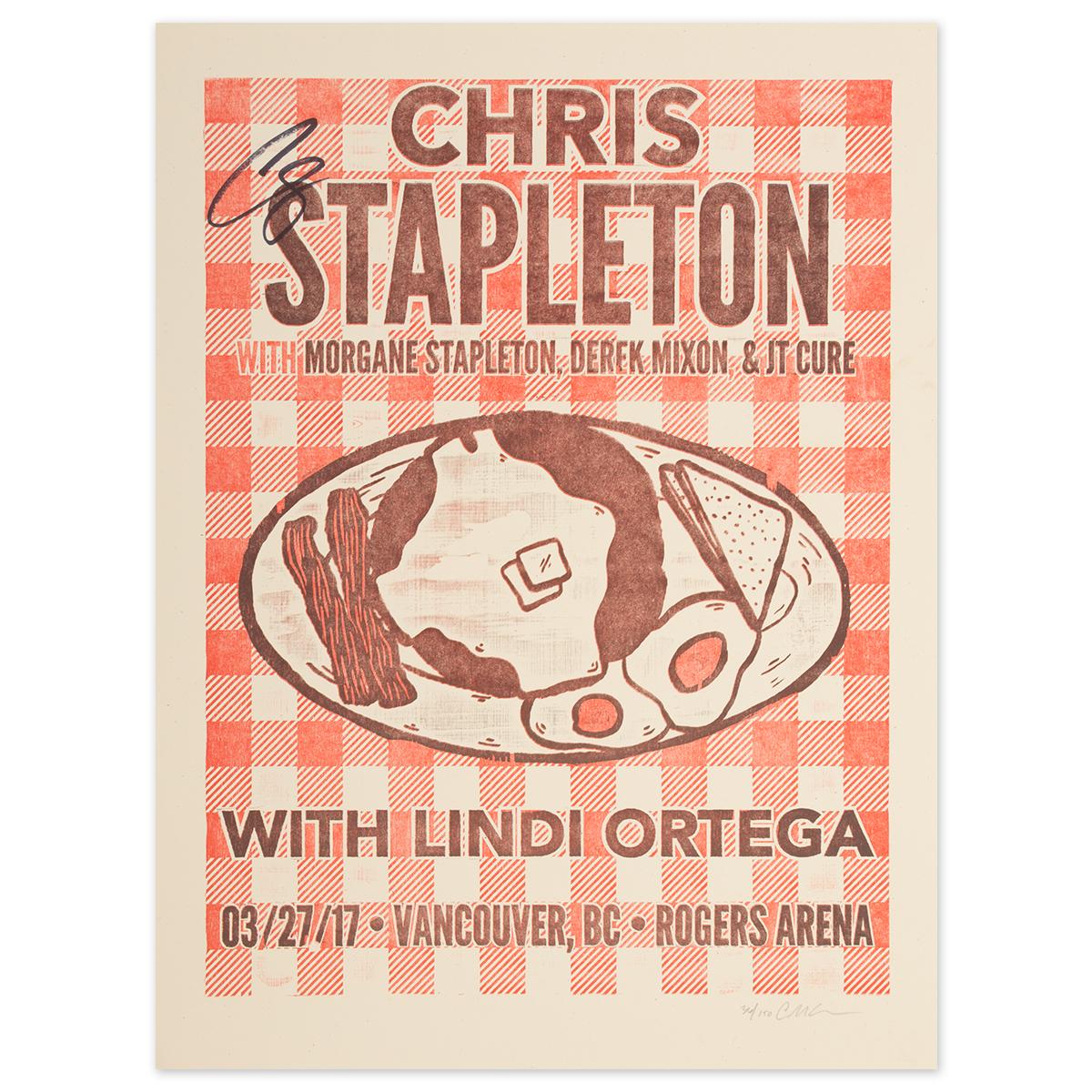 Signed Chris Stapleton Show Poster – Vancouver, British Columbia 3/27/17