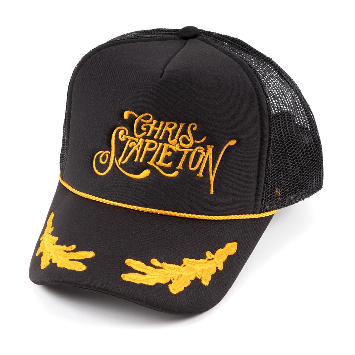 Stapleton Script w/ Gold Leaves Mesh Trucker Hat