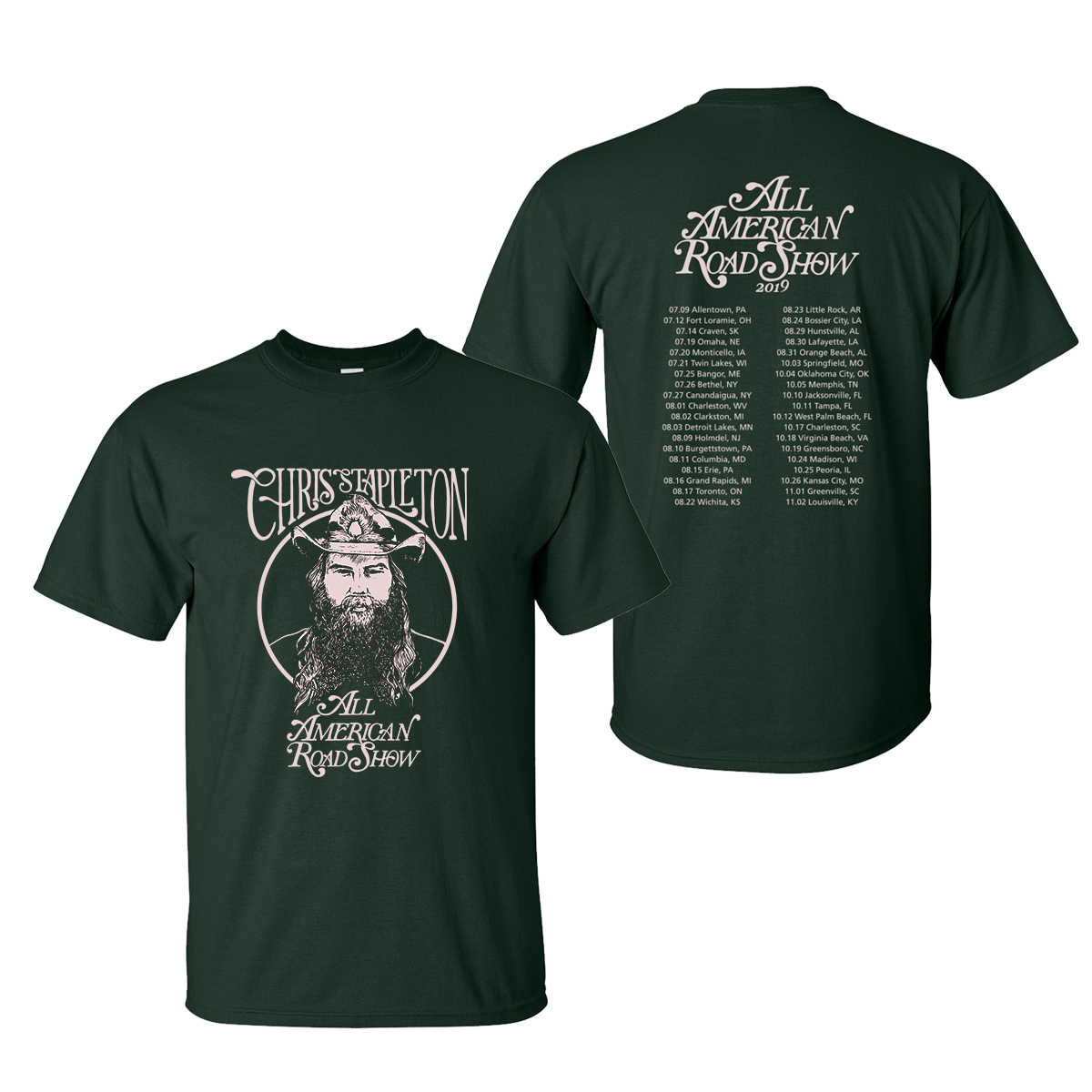 The 2019 All American Road Show Tour Tee