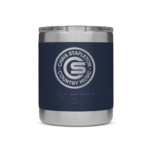 Chris Stapleton Navy 10 oz Yeti Rambler Lowball with Lid
