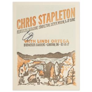 Signed Chris Stapleton Show Poster – London, Ontario 3/18/17