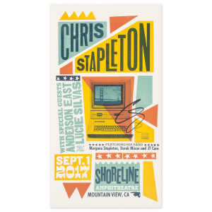 Signed Chris Stapleton Show Poster – Mountain View, CA 9/1/17