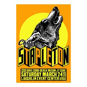 Chris Stapleton Show Poster – Laughlin, NV 3/24/18