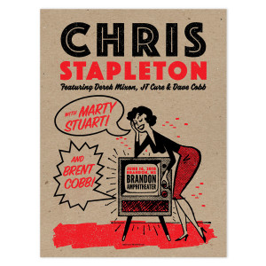 Chris Stapleton Show Poster – Brandon, MS 6/16/18