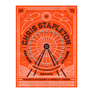 Chris Stapleton Show Poster – Darien Center 6/28/18
