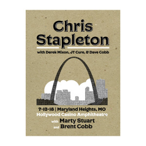 Chris Stapleton Show Poster – Maryland Heights, MO 7/13/18