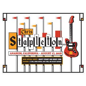 Chris Stapleton Show Poster – Anaheim, CA 8/17/18