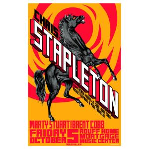 Chris Stapleton Show Poster -- Noblesville, IN 10/5/18