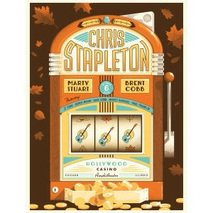 Chris Stapleton Show Poster – Chicago, IL 10/6/18