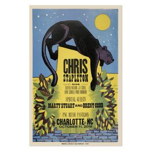 Chris Stapleton Show Poster – Charlotte, NC 10/11/18
