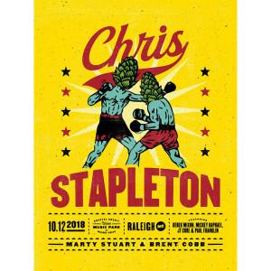Chris Stapleton Show Poster – Raleigh, NC 10/12/18
