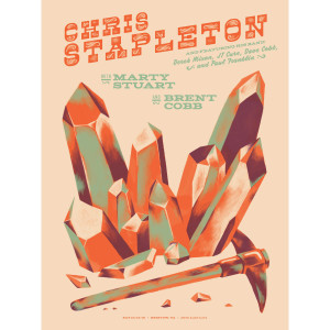 Chris Stapleton Show Poster – Bristow, VA 10/13/2018