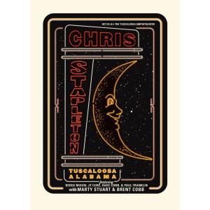 Chris Stapleton Show Poster – Tuscaloosa, AL 10/18/18
