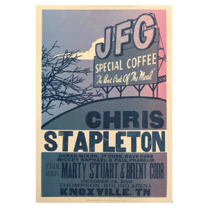 Chris Stapleton Show Poster – Knoxville, TN 10/26/18