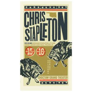 Chris Stapleton Show Poster – Durant, OK 3/15/19 - 3/16/19