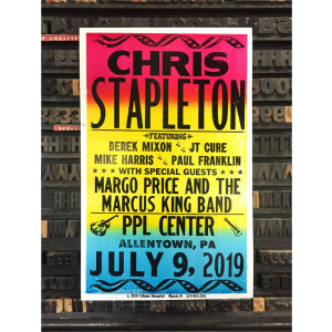 Chris Stapleton Show Poster – Allentown, PA 7/9/19