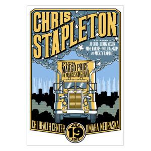 Chris Stapleton Show Poster – Omaha, NE 7/19/19