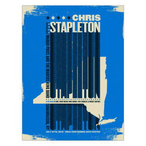 Chris Stapleton Show Poster – Canandaigua, NY 7/27/19