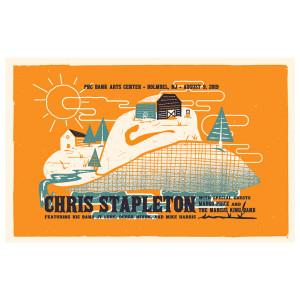 Chris Stapleton Show Poster   Holmdel, NJ 8/9/19