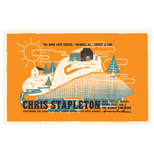 Chris Stapleton Show Poster – Holmdel, NJ 8/9/19
