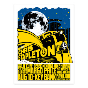 Chris Stapleton Show Poster – Burgettstown, PA 8/10/19