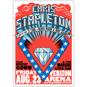 Chris Stapleton Show Poster – Little Rock, AR 8/23/19
