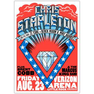 Chris Stapleton Show Poster – Little Rock, AR 8/23/19